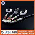 de navidad de cerámica mango de acero inoxidable vajilla cuchillos y tenedores