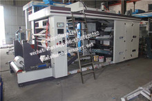6 color closed type doctor blade system 6 color flexo printing machine(belt drive)