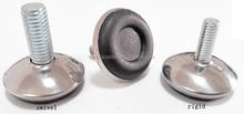 28mm swivel/rigid stainless iron adjustable furniture leg, soft rubber mat R028