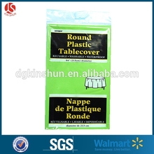 green disposable tablecloth/plastic round dining table cover