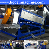recycling machine cleaning line for waste pet bottle flakes pe pp plastic films