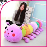 Children's Toys colorful caterpillar pillow custom plush toy