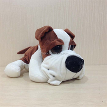 Promotional two different sizes sleeping dog plush toy