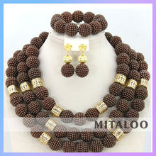 Mitaloo Newest Design Coral Beads Necklace Jewelry Sets OEM/ODM African Wedding Jewelry Sets MT0001