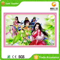 Newest design fast supplier wall decoration sexy 5d diamond painting cross stitch kit