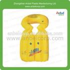 amarelo pvc inflável piscina para crianças colete flutuador ajuda jaqueta de formação
