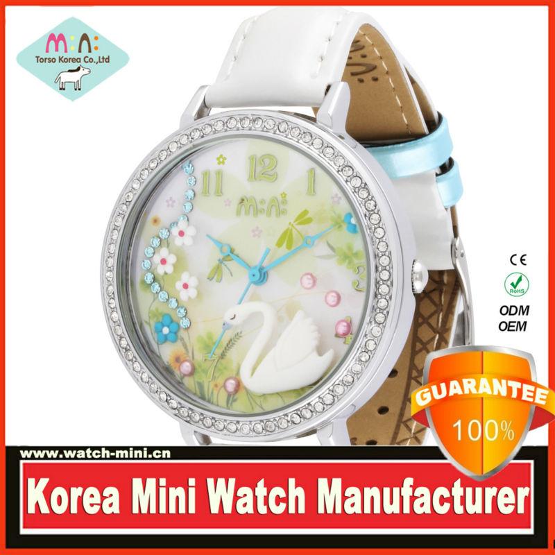 2015 New Vintage Quartz Women Dress Watches 3D mini miniature Leather Bracelet Wrist Watch