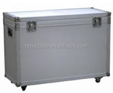 Customized professional aluminum case with wheels,aluminum rolling case,aluminum storage case