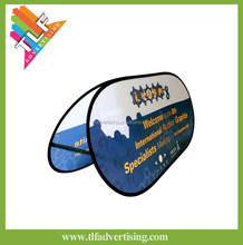 Oval golf Pop Up Banner A-frame banner