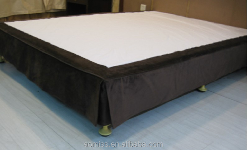 Luxury 5 star decorative 100 polyster hotel bed skirt for Luxury hotel 660 collection bed skirt