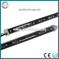 Outdoor 3D DMX512 led meteor light led vertical tube/dmx 3d disco led tube light