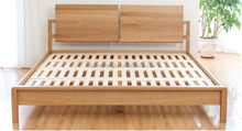 Good quality factory direct white pine bed wooden bed solid wood bed