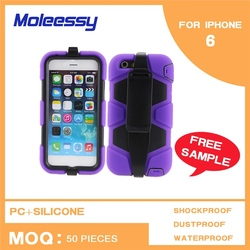 Waterproof plain silicon case for iphone 6 5