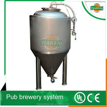 100L small stainless steel craft beer brewing machine for black beer