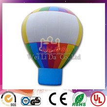 Colorful inflatable hot air balloon for adversting in low price