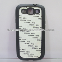 blank sublimation soft TPU phone case for samsung galaxy S3 with metal sheet