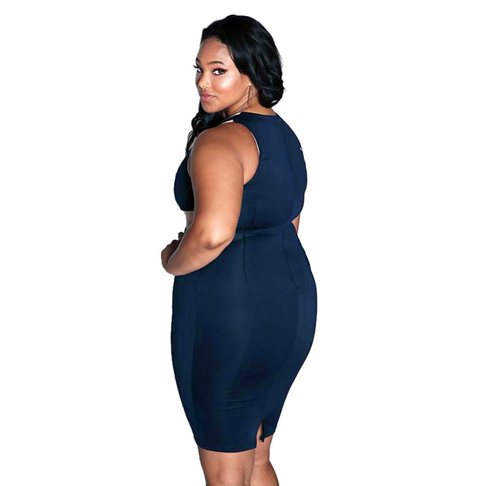 Grande taille sans manches sexy corps dames robe fat taille <span class=keywords><strong>partie</strong></span> de femmes