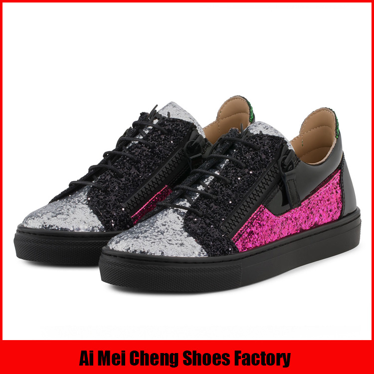 Mode citi tendances confortable rose argent glitter 2017 en gros chine kid chaussures