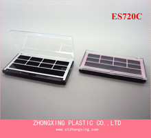 OEM Cosmetic Packaging Square Clear Lip 8 Color Eye Shadow Case With Brush
