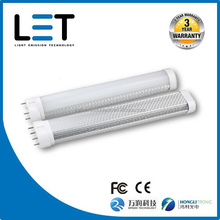 Energy saving PC cover led tube 100lm/w 2g11 led 4 pin base led linear light 1800 lumens 18w 530mm smd2835 HONGLI/MASON leds
