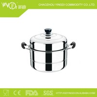 No electric rice cooker &Magnetic 26cm to 30cm stainless steel steamer pot or non-magnetic