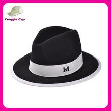 De alta qualidade fantasia cowboy crushable feltro de lã chapéu atacado