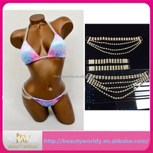 Top AAA crystal Rhinestone Bikini Center Connector, Rhinestone Buckle