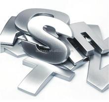 die cut 3D sliver letter sticker car body sticker chromed