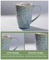 caneca de café de porcelana branca