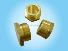 stainless steel brass threaded dome end cap for gas pipe casting