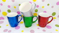 factory dirctly hot sell glaze spraying ceramic mugs with metallic colors