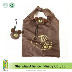 Brown Bear Shape Resuable Eco Funny Tote Cheap Foldable Shopping Bag
