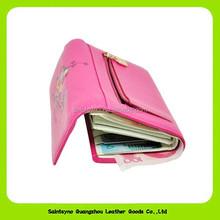 14332 Tri-fold design leather women purse , China wholesale