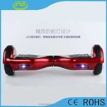 China red 2 wheel electric scooter flying on the road
