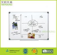 Aluminum frame whiteboard for marker pen