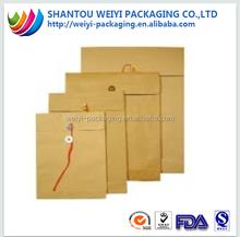 Kraft paper waterproof document pouch wholesale
