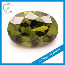 Oval olive green rough uncut diamond for sale