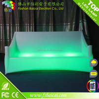 remote control wholesale nightclub furniture lcolorful ed bar sofa