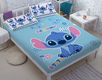 Lilo & Stitch bed three sets, children's bed sheets, double size bed three sets. Star Bed linen wholesale custom DIY CD29