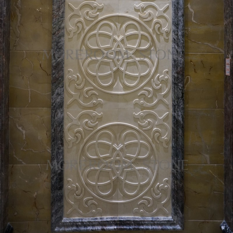 ML-A002 Moreroom Stone Chinese Factory Beige Marble Turkish Marble Wall Panel Polished Wall Stone Wall Art Panel Faux Marble Wall Panels CNC Wall  Tiles 3D Marble Panels Decorative Stone -04.jpg