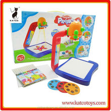 Projection children plastic toys drawing board with water pen