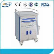 MINA-MT600C Instrument Nursing Transfer Movable Hospital Dressing Trolley