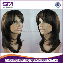 High quality belle madame german synthetic hair wig, cleaning method synthetic hair wig factory price