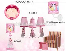 Hot venda pretty pink princesa crianças quarto luz/lustre decorativo de luz