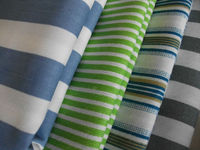 plain custom design print fabric cotton blue and white striped