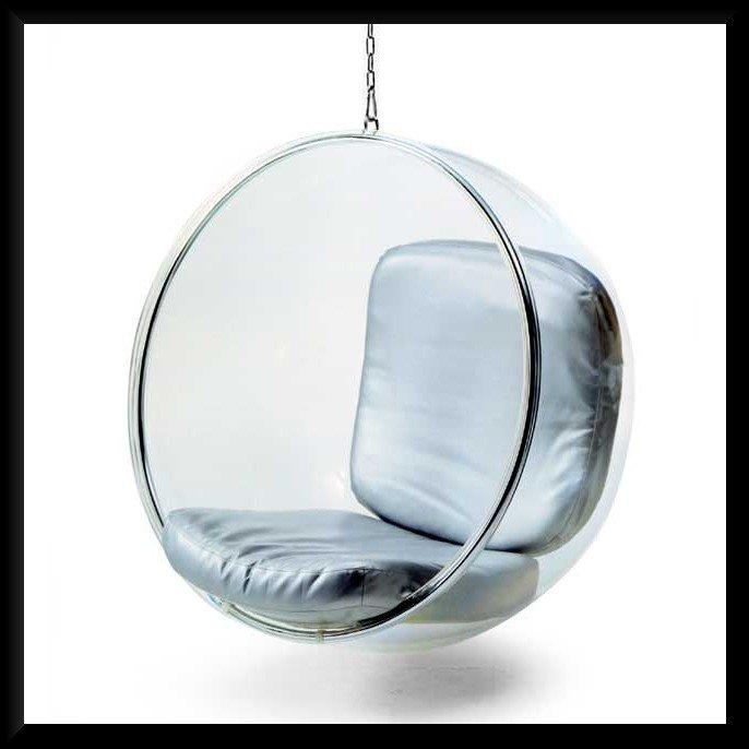 Cadeira da bolha de Eero Aarnio suspenso do teto