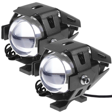2Pcs 3000LM Motorcycle Moto U5 LED Running Driving HeadLight Lamp Headlight