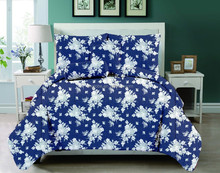 high quality microfiber floral print child quilts