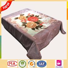 Adult flower blanket wool acrylic polyester coral velvet korean mink blanket