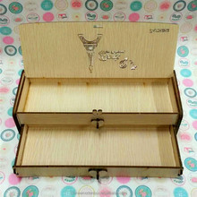 2015 double layer refined wooden pencil box